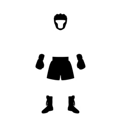 Boxing equipment vector
