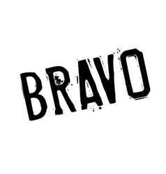 Bravo rubber stamp vector