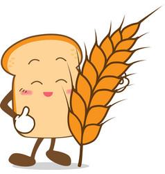 Bread 15 Isolated happy smile Slice of bread vector image