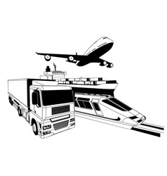 cargo logistics transport vector image