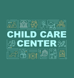 child care center word concepts banner vector image