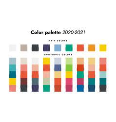 Color palette fall-winter 2020 fashion trendy vector