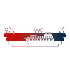 container ship shipping at the port vector image