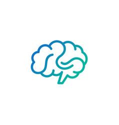 Creative abstract brain logo design vector