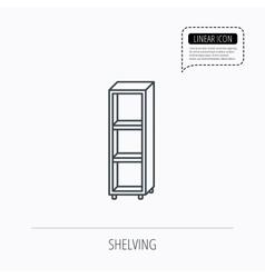 Empty shelves icon Shelving sign vector