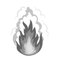 Explosion icon in monochrome style isolated on vector