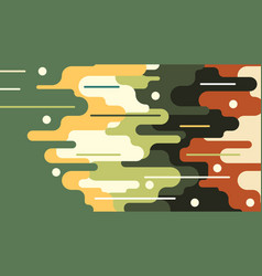 Flat background paint sticking vector