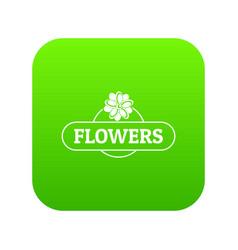 flower farm icon green vector image