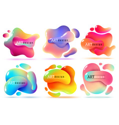 Fluid shape banners liquid shapes abstract color vector