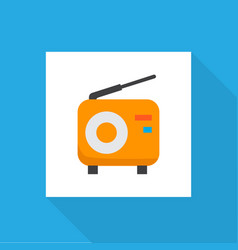 fm icon flat symbol premium quality isolated vector image