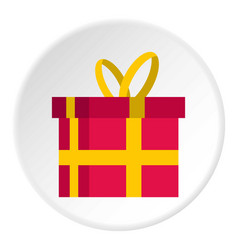 gift in a box icon circle vector image