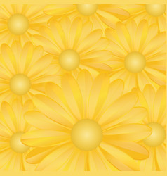 gold flower background vector image