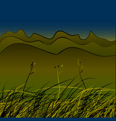 Green steppe grass vector