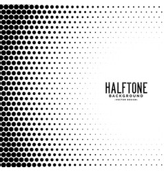 Halftone gradient dots pattern background vector