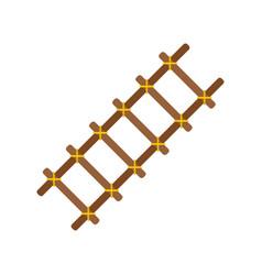 Handmade ladder icon flat isolated vector