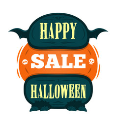 happy halloween sale offer design template vector image