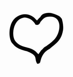 heart freehand vector image