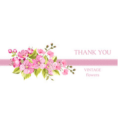 invitation card with summer flowers vector image