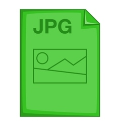 JPG file icon cartoon style vector