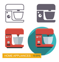 Kitchen mixer icons vector