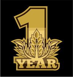 Laurel wreath 1 year vector image