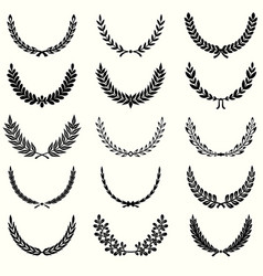 laurel wreathes set vector image