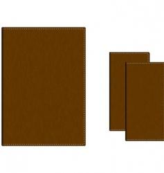 Leather folders vector