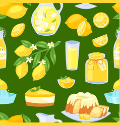 lemon food lemony yellow citrus fruit and vector image