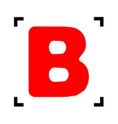 letter b sign design template element red vector image