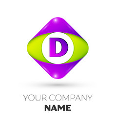 Letter d logo symbol in colorful rhombus vector