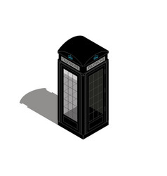 london phone booth isolated on whiteflat vector image