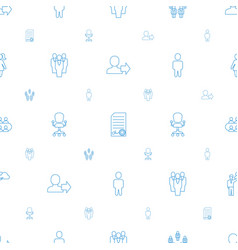 Manager icons pattern seamless white background vector