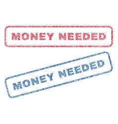 Money needed textile stamps vector