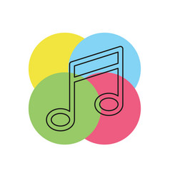 musical note symbol - melody vector image