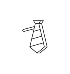 necktie related line icon vector image
