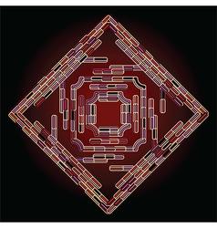 Neon abstract vector