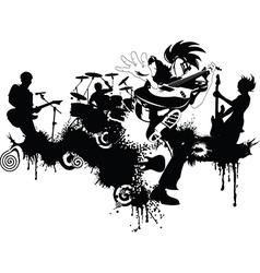 New punk rock graffiti vector