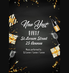 new year party design template with elements vector image