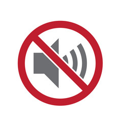 no noise allowed sign on white background for vector image