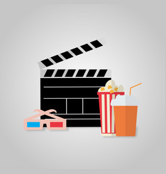 on the theme of cinema viewing vector image