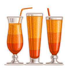 Orange cocktails vector