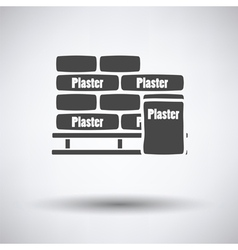 Palette with plaster bags icon vector image