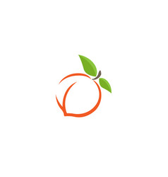 peach orange logo vector image