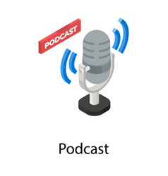 Podcast vector