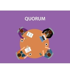 quorum concept with team business vector image