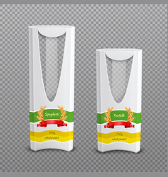 Realistic pasta packages transparent background vector