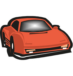 red car icon on white background vector image