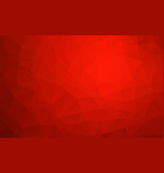 red geometric rumpled triangular low poly origami vector image