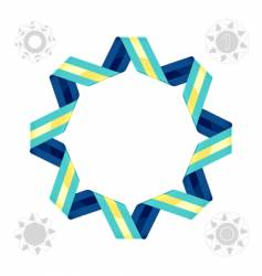 ribbon design element vector image vector image