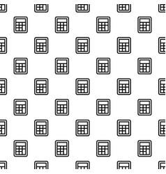 School calculator pattern seamless vector
